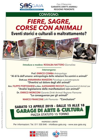 Convegno FIERE, SAGRE, CORSE CON ANIMALI: eventi storici e culturali o maltrattamento?