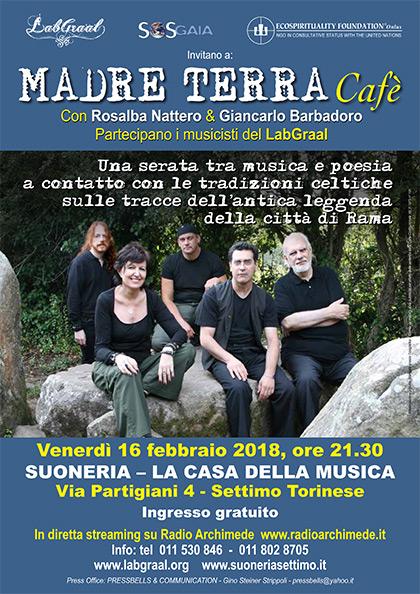 Madre Terra Cafè alla Suoneria di Settimo - Venerdì 16 febbraio 2018, ore 21.30