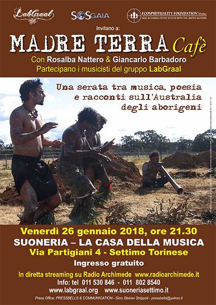 Madre Terra Cafè alla Suoneria di Settimo - Venerdì 26 gennaio 2018, ore 21.30