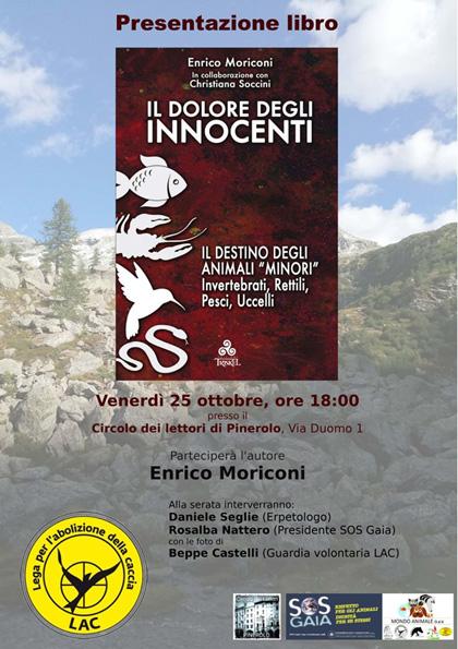 24 ottobre 2019 Presentazione del libro Il dolore degli innocenti al Circolo dei lettori di Pinerolo