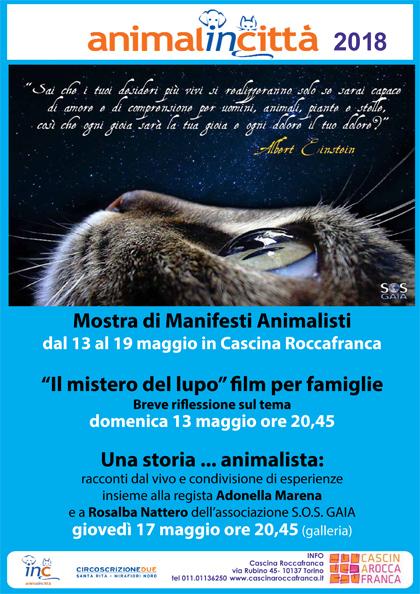 Giovedì 17 maggio, ore 21 - Cascina Roccafranca - Rosalba Nattero parlerà sul tema: Animalismo e antispecismo all'evento Una storia... animalista: racconti dal vivo e condivisione di esperienze