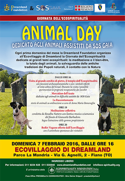 Animal Day all'Ecovillaggio di Dreamland - 7 febbraio 2016