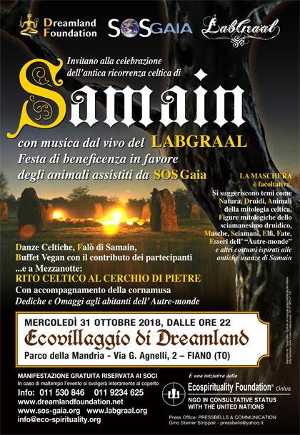 Samain con il LabGraal in favore di SOS Gaia - 31 ottobre 2018 - Ecovillaggio di Dreamland