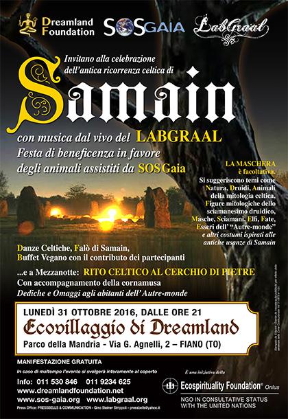 Samain con il LabGraal in favore di SOS Gaia - 31 ottobre 2016 - Ecovillaggio di Dreamland