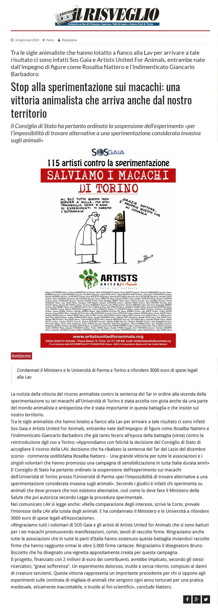 il-risveglio-24-01-2020-Stop-alla-sperimentazione-sui-macachi