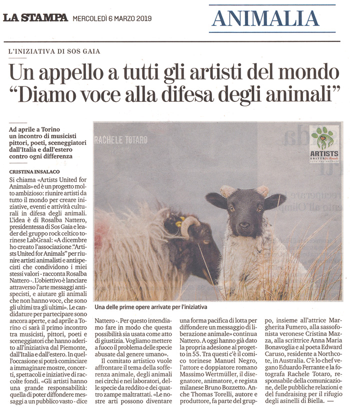 la-stampa-6-marzo-2019-artists-united-for-animals